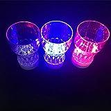 Unbekannt 2 x LED Party Trinkglas Multicolor mit Farbwechsel
