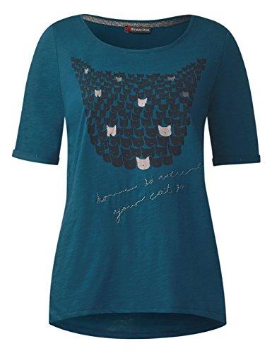 Street One Damen T-Shirt Türkis (Pacific Blue 30991)