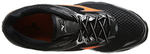 Mizuno Wave Creation 18, Chaussures de Running Compétition homme Noir (Black/clownfish/silver)