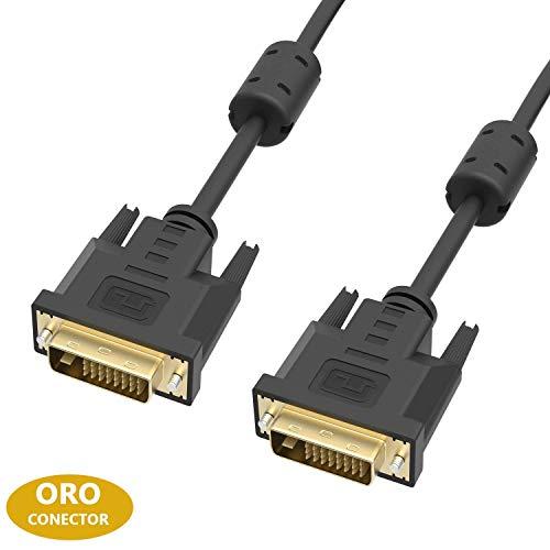 ICZI Cable DVI a DVI con 2 Núcleos de Ferrita
