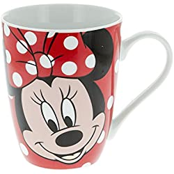 CARBOMBONIERE Taza de porcelana Clubhouse Walt Disney Minnie en carcasa con caja de regalo, 10,5 cm de alta, de colores