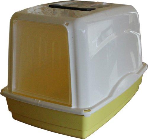 Preisvergleich Produktbild Georplast Katzentoilette Vicky gelb/weiß