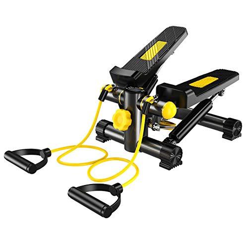 Dr.Taylor Stepper-Maschine, Sit & Stand Mini-Fahrrad mit Trainingsbändern für Fettabbau und Workout-Fitness, großes Pedal und stabile Basis für Heim und Büro