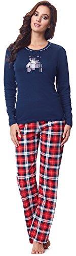 Italian Fashion IF Pijamas para Mujer Dominica 0223 (Azul Azul Marino, M)