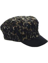adc4b2ce32a4c New Look Women s Brushed Leopard Baker Boy 5891583 Flat Cap