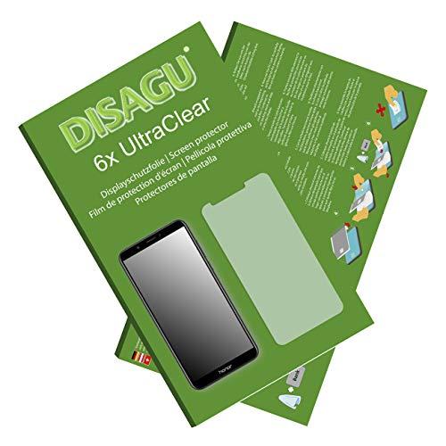 Disagu Honor 7C Displayschutzfolie - 6X Ultra Clear Schutzfolie für Honor 7C