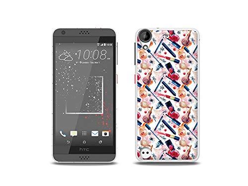 etuo Handyhülle für HTC Desire 530 - Hülle, Silikon, Gummi Schutzhülle - Zeit für Make up