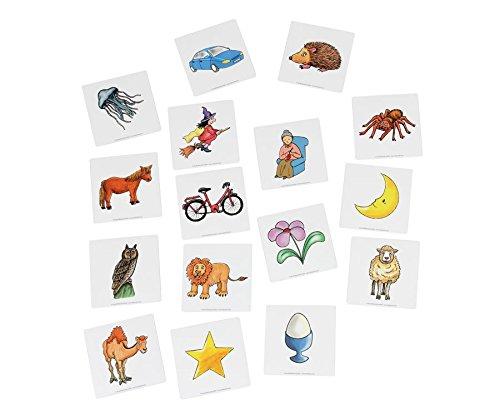 Preisvergleich Produktbild Betzold Magnetische Anlautbilder, zum Alphabet, 37 Bildkärtchen Anlaute, 2 x 2 cm, auf Sortierfeld, für die Lese-Magnetbox geeignet - Deutsch Sprachförderung DaZ Freiarbeiten