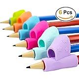 Pencil Grips, bicolor nuevo diseño ergonómico soporte de capacitación de los niños Lápiz Pluma Escritura