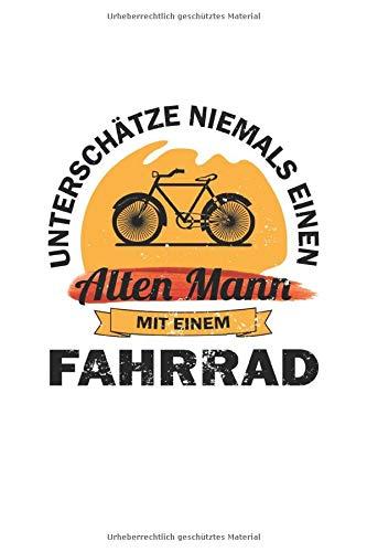 Price comparison product image Unterschätze niemals einen alten Mann mit einem Fahrrad: Notizbuch für Radfahrer / Karo / A5 / 120 Seiten