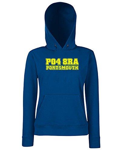 T-Shirtshock - Sweats a capuche Femme WC1095 portsmouth-postcode-tshirt design Bleu Navy