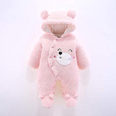 Chennie Mameluco Capucha bebé niño invierno cálido gruesas Mono broches delanteros
