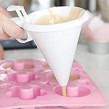 Zhuhaimei,Dispensador de talud del Molde del Pastel del Chocolate del Embudo del Caramelo Ajustable