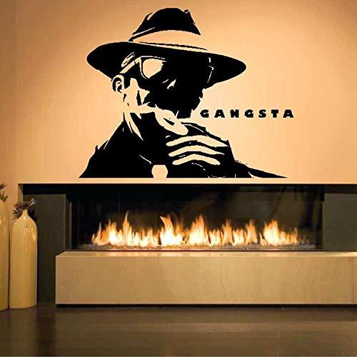 ljradj Gangsta Mob Bandit Poster wandaufkleber Wohnzimmer Home Art Deco wandtattoos Schlafzimmer Dekoration wandaufkleber weiß 71X57 cm