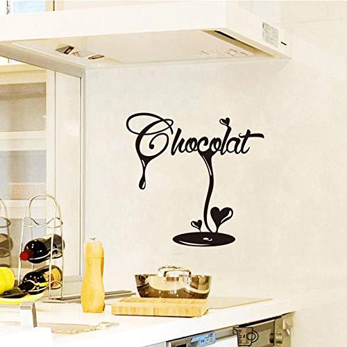 yiyiyaya Aufkleber Französisch Latte Chocolate Fudge Vinyl Wandtattoo Tapete Wandbild Wandkunst Küche DekorWohnkulturHaus Dekoration55 * 55 cm