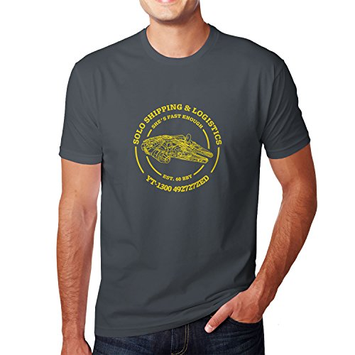 Chewie Han Und Kostüm - Solo Shipping & Logistics - Herren T-Shirt, Größe: S, Farbe: grau