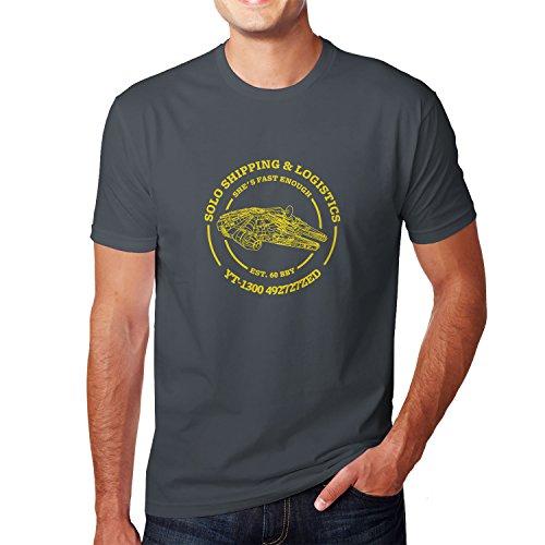 Solo Shipping & Logistics - Herren T-Shirt, Größe: L, Farbe: ()