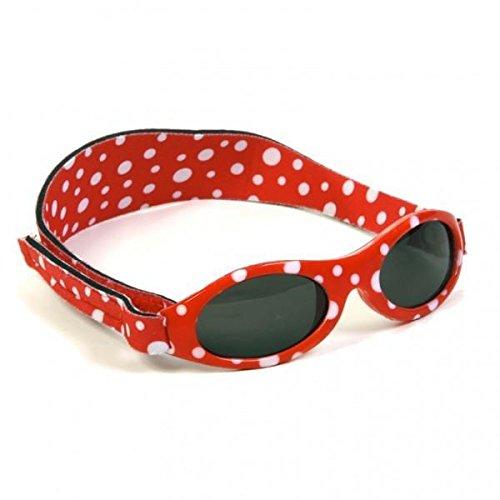 Baby Banz - Gafas de sol Adventure lunares rojos Talla:Kids