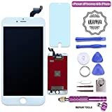 UBaymax Kompatibel iPhone 6S Plus Bildschirm Weiß LCD Display Touchscreen Kompatibel iPhone 6S Plus Ersatz Bildschirm Front Komplettes Glas kompatibel iPhone 6S Plus