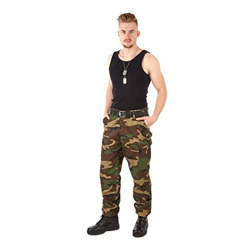 Sommer Woodland Tarnmuster (Army BDU Hose Rangerhose Kampfhose US Rangerhose - L - Woodland)
