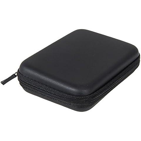 Portátil de 2.5 Pulgadas PU Impermeable con Bolsa Viaje Funda para Disco Duro HDD Negro