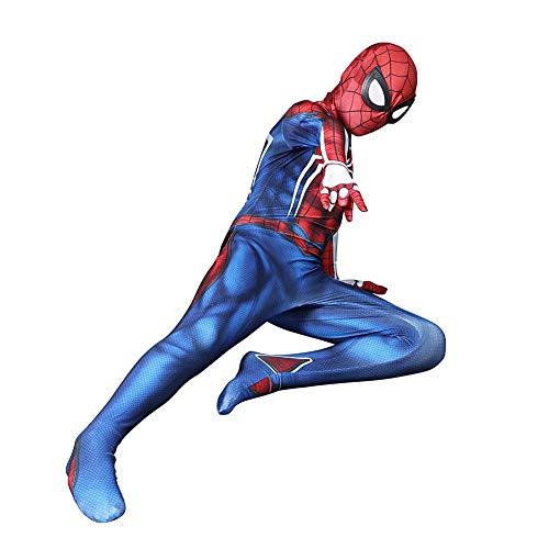DFRTYE Spider-Man Halloween Erwachsene Kinder Kostüm Overall 3D Print Spandex Spiderman Verkleidung Kostüm Cosplay Body,Kids-S
