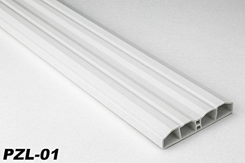 50 Meter PVC Zaunlatten Kunststoff Profile Bretter Gartenzaun 80x16mm, PZL-01