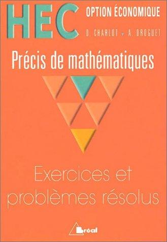 Analyse, HEC (Option conomique) : Prcis de mathmatiques