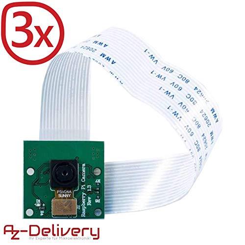 AZDelivery ⭐⭐⭐⭐⭐ 3 x Kamera für Raspberry Pi und gratis eBook! (Raspberry Cam Pi Pi)