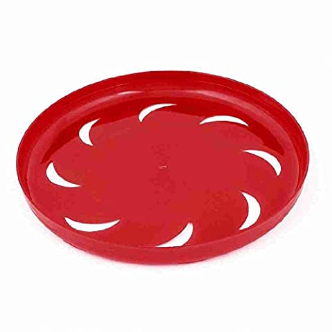Move&Moving(TM) Pet Dog Training Red Plastic Hollow Out Moon Flyer Disc Frisbee Toy 9.1