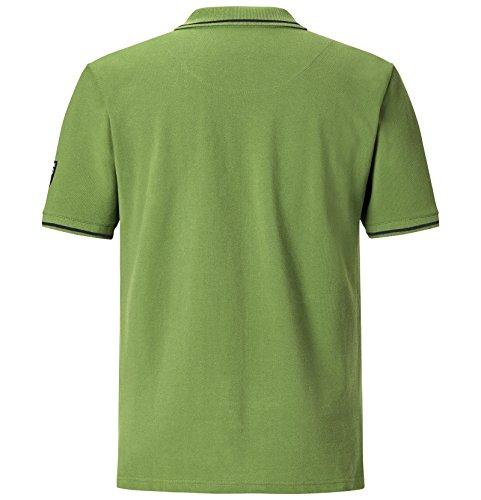JAN VANDERSTORM Herren Poloshirt INGAR in Übergröße | Große Größen | Plus Size | Big Size | XL - 7XL Hellgrün