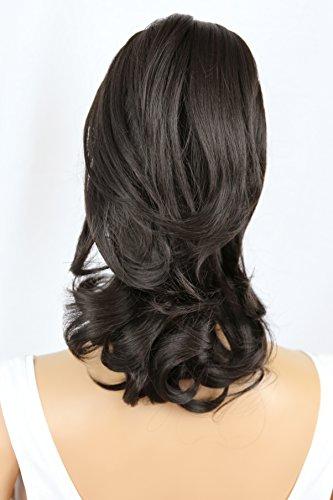PRETTYSHOP Voluminöses Haarteil Hair Piece Pferdeschwanz Zopf Ponytail ca 35cm diverse Farben (schokobraun H62_4)