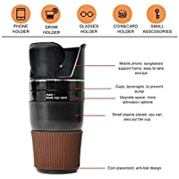 SNEPCOM 5 in 1 Auto Multi Cup Holder Cup/Mobile/Coins/Sunglass Holder/Bottle for Car