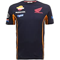 Honda Gas Repsol Team Moto GP t-shirt blu, Marquez Pedrosa ufficiale Nuovo