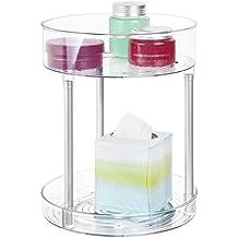 mdesign duschorganizer zweistckige duschablage mit drehtellern duschregal stehend fr dusch badeaccessoires - Duschablage Kunststoff