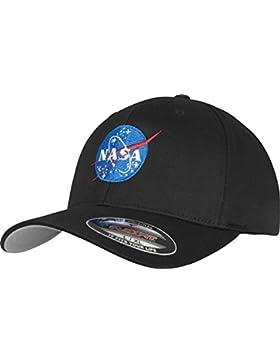 Mister té NASA Logo Flexfit–Gorra, Negro, Disponible en Dos tamaños, Unisex, NASA Flexfit Cap, Negro, Small/...