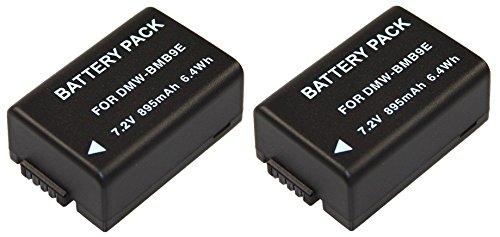 2er-SET Ersatzakkus für die Panasonic Lumix FZ72 / DMC-FZ72EG --- Akku für Panasonic DMW-BMB9 inkl. PATONA Displaypad