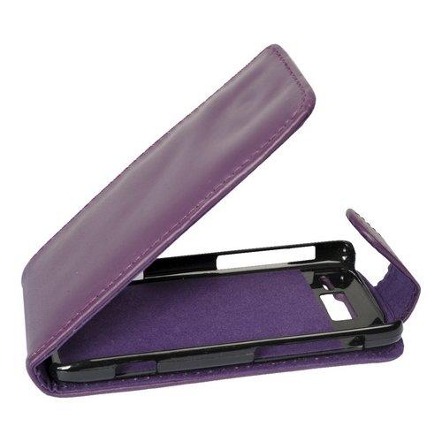 Flip Case Etui Handytasche Tasche Hülle für Motorola RAZR i XT890 (Violett)