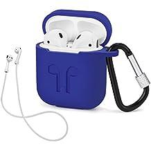 MaxKu Airpods Caso, Silicona Carcasa de Protección Case Funda Cascara Bolsa Caja para Apple Airpods