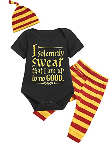 2fd2f55ca1eaad 3PCS Baby Boys Girls Outfit Set Snuggle This Muggle Romper + Pants + Hat (Z