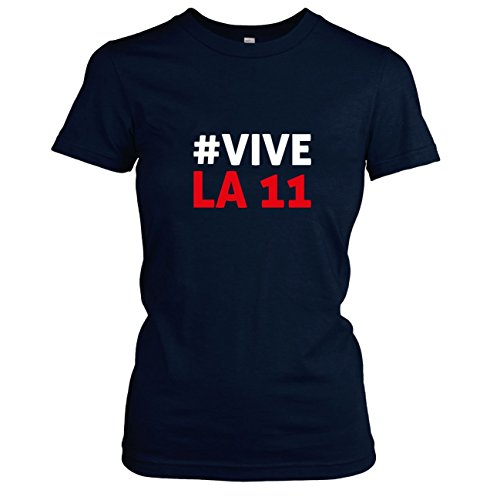 TEXLAB - Polska Vive La 11 - Damen T-Shirt, Größe XL, (Fußball Team Kostüme Maskottchen)