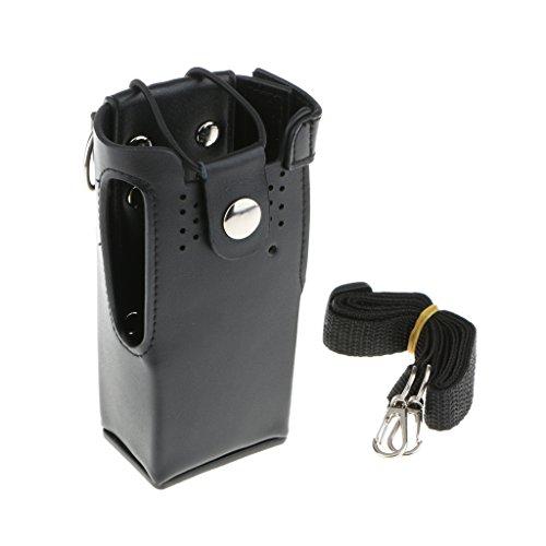 Leder Tasche Tragetasche (Dolity Funkgeräte PU leder Taschen Tragetasche Hülle Schutzhülle Für Gp328 Gp338 Gp380)