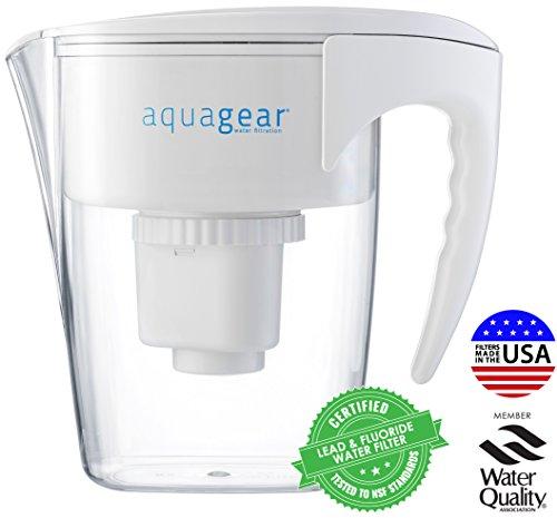 Jarra de filtro de agua Aquagear - Filtro de plomo, flúor, cloramina,...
