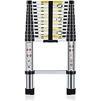 Nestling® 3.8M Escalera Telescópica Multiusos de Aluminio Portátil. Extensión Plegable y Extensible EN131, Carga Máxima 150 kg