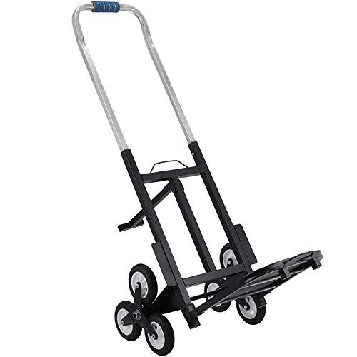 Mophorn Chriot Monte-Escalier 100kg Aide au Transport Manutention Portable avec Cadre en Métal Chariot Pliant