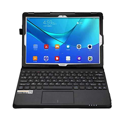 MQ pour Huawei MediaPad M5 10.8 - Etui avec clavier français AZERTY pour Huawei MediaPad M5 Pro 10.8 | Huawei MediaPad M5 10.8 Housse avec clavier bluetooth, touchpad (pavé tactile) intégré en clavier
