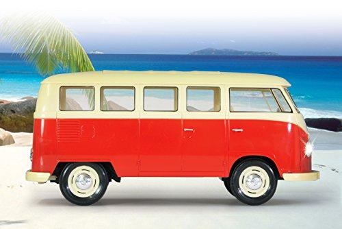 RC Spielzeug kaufen Spielzeug Bild 1: Jamara 405119 - VW T1 Classic Bus 1:16 1963 2 Kanal 2,4GHz - LED, detailgetreuer Innenraum, Fahrzeugdetails in Chrom: Scheibenwischer, Radkappen, Außenspiegel, Türgriffe, Scheinwerfereinfassungen*