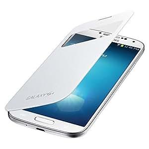 Coque de Chargement Sans Fil EF-TI950BBEG S-View pour Samsung Galaxy S4 I9500, I9505, I9506 - Blanche