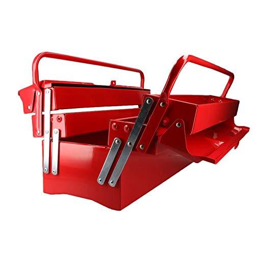 DrillMan Werkzeugkoffer, 3 Etagen, 5 Ablagen, Metall, 51 cm