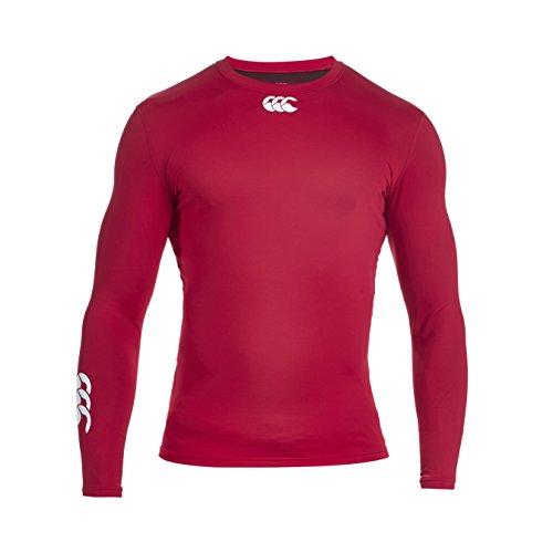 Canterbury Herren Bekleidung Long Sleeve Shirt Baselayer Cold Wärmend Rot